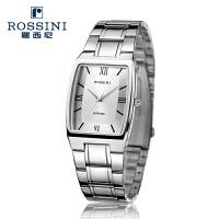【官方直营】罗西尼男士手表 时尚公务正品不锈钢石英情侣表女表DDR1390W01D