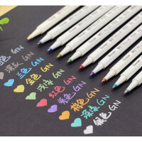 DIY相册笔涂鸦笔广纳6551金属笔彩色笔油漆笔记号笔一套10支