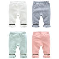 婴儿裤子春装女童打底裤3个月宝宝长裤春季新生儿休闲裤子