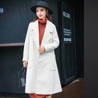毛呢外套女中长款韩版2018秋冬装季学生新款宽松妮子反季羊毛大衣