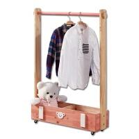 实木衣架卧室简约可定做松木衣帽架可移动落地挂衣架衣服架子