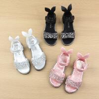 夏季儿童凉鞋女童宝宝鞋小公主软底水钻凉鞋罗马鞋子