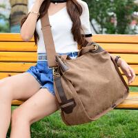 新款帆布女包大包包韩版时尚通勤单肩斜挎森系布包大容量