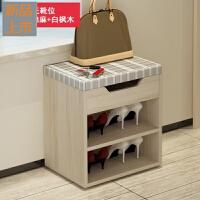 换鞋凳储物凳创意沙发凳 实木色鞋凳式鞋柜收纳鞋架布艺脚凳定制
