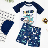 儿童泳衣男童分体防晒速干宝宝小童游泳衣套装中大童