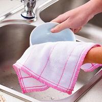 30片�b大��N房毛巾抹布不易沾油棉�洗碗布吸水家�涨��巾洗碗巾擦桌百��布 多�x�窨蛇x 2片棉�洗碗布