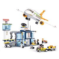 【当当自营】小鲁班航空天地系列儿童益智拼装积木玩具 国际机场M38-B0367