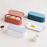 居家家带勺陶瓷调味罐套装厨房调味盒调料瓶家用盐罐调料盒调料罐