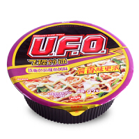 NISSIN日清UFO铁板色拉鱿鱼风味飞碟炒面123g 碗装速食酱香方便面拌拉面