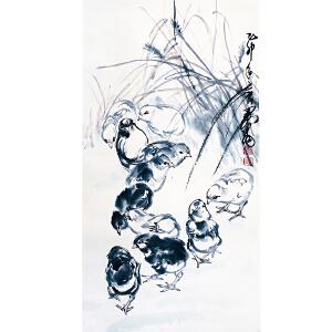 轻工业部工艺美术公司顾问,中国美术家协会常务理事 黄胄《小鸡》DW181