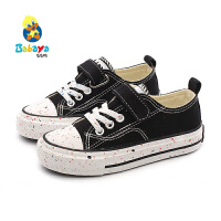 芭芭鸭儿童帆布鞋女童布鞋男童休闲鞋2019秋季新款板鞋韩版潮鞋子