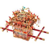 diy手工玩具新婚新年礼物送女友拼酷花轿3D立体拼图金属拼装模型
