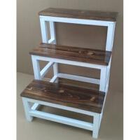 实木梯子两用梯凳实木楼梯登高梯2-4步家用梯子爬梯