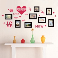 创意照片墙墙纸自粘相框 创意照片墙贴纸卧室温馨床头墙纸贴画 婚房客厅办公室自粘相框贴 大