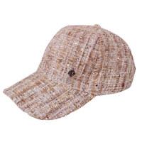 时尚休闲百搭潮人鸭舌帽亮丝格纹帽子男帽子女针织棒球帽