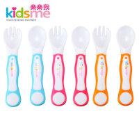 亲亲我 婴儿餐具 宝宝练习叉匙梗 叉匙套装 适合6个月以上 906020