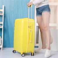 拉杆箱万向轮旅行箱子母女行李箱22寸登机20寸24寸26寸学生密码箱 黄色 黄色/单箱 20寸包用五年+终身保修+送防