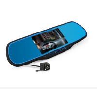 包邮 爱国者 D80 行车记录仪 高清 双镜头 带电子狗 导航 后视镜 倒车 影像一体机
