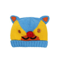 儿童毛线帽宝宝卡通帽子户外男女童保暖针织帽韩版时尚套头帽童帽