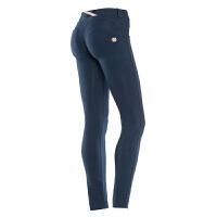 意大利Freddy 低腰时尚版藏蓝色紧身性感蜜桃裤翘臀裤女 B94