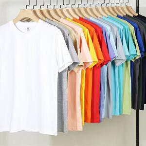2件9折 3件8折 纯棉条纹短袖T恤男士圆领 男装休闲宽松弹力半袖t恤衫伯克龙A6011