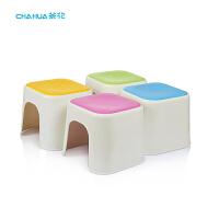 茶花塑料方凳换鞋矮凳炫彩凳凳子小板凳防滑儿童浴凳