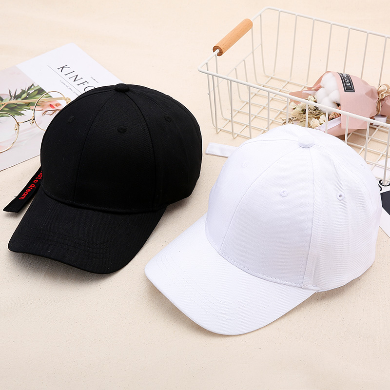 帽子女士夏潮人韩版鸭舌帽夏季潮棒球帽青年百搭遮阳帽黑白嘻哈帽