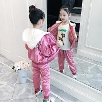 女童运动套装韩版洋气潮衣外套春秋童装两件套儿童秋装女