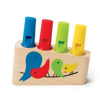 Hape彩虹排笛3岁以上培养乐感益智玩具认知颜色婴幼玩具智体发展E1025