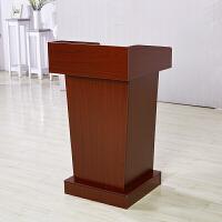 讲台演讲台发言桌四川办公家具办公桌定做现代中式主席台发言台ll