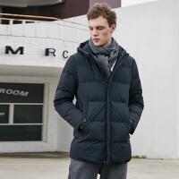 坦博尔2018新款羽绒服男短款中年休闲时尚都市保暖厚外套 TF18171