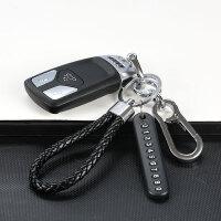 汽车钥匙扣男士钥匙挂件奔驰宝马大众皮革金属车载钥匙扣锁匙链女