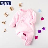婴儿连体衣服宝宝新生儿长袖冬季3个月棉6季春装连体衣新年