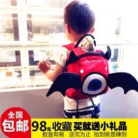 小恶魔防走失包宝宝包包可爱儿童书包幼儿卡通背包幼儿园1-3-5岁