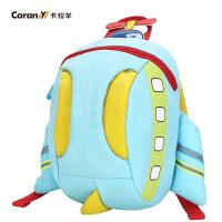 卡拉羊 宝宝双肩包1-3岁儿童小书包 可爱卡通防走失牵引绳背包