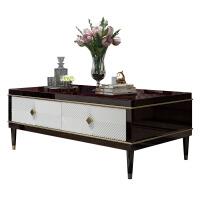美式轻奢实木后现代客厅茶台法式组合新古典简约定制家具 整装