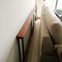客厅沙发后置物架靠墙落地实木床头收纳书架子柜定制玄关架长条窄