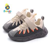 芭芭鸭儿童运动鞋男童鞋子2019新款秋季网面透气跑步鞋休闲鞋女童