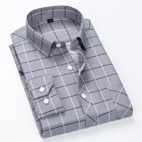 韩版格子衬衫男士长袖修身帅气潮流青少年衬衣