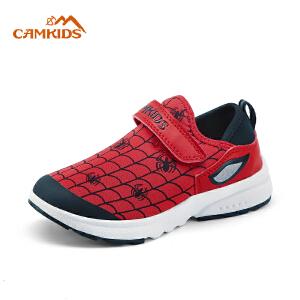 camkids男童运动鞋漫威儿童运动鞋2018春秋季新款女童休闲鞋
