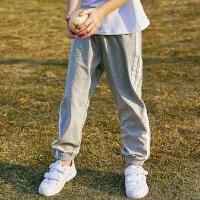 【3件3折到手价:46】小猪班纳童装男童裤子女童长裤条纹2020春夏新款儿童休闲裤中大童