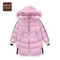 【超值热卖】女中大童加厚大衣 冬装2018新款时髦洋气仿小羊皮毛领长款棉衣