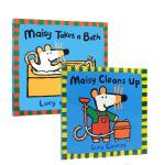 顺丰发货 英文原版Maisy's Pool Maisy Cleans Up 小鼠波波系列2本套装 0-3岁幼儿启蒙认知