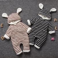 20180427054847770婴儿连体衣服加厚新生儿宝宝外出冬季6新年冬装3外套装棉衣0个月1