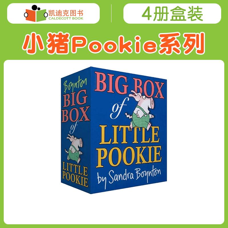 #美国进口 Big Box of Little Pookie 小猪Pookie系列绘本4册盒装【纸板】