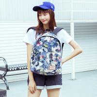 双肩包女韩版校园书包高中学生旅行包森女系学院风背包