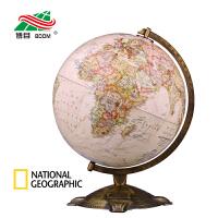 博目地球仪:30cm中英文政区古典立体地球仪 国家地理版 办公书房装饰
