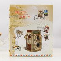 相册 插页式影集6寸8寸220张家庭儿童宝宝照片纪念册收纳册本