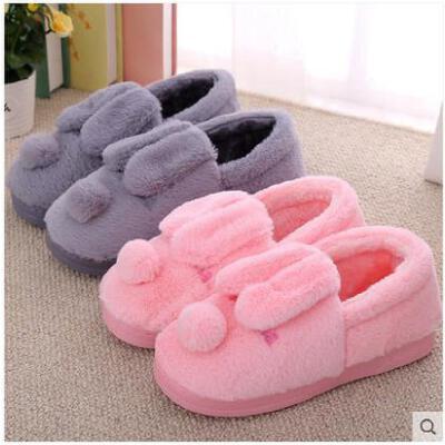 棉拖鞋女冬天全包跟毛拖鞋加厚保暖居家冬天防滑一家三口拖鞋