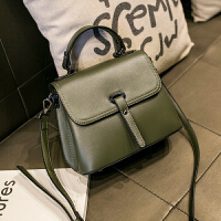 女士小包包女2018新款真皮复古手提包女包迷你时尚百搭单肩斜挎包 墨绿色 +收藏送卡包